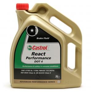 Castrol React Performance DOT 4  Bremsflüssigkeit 5l