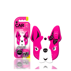 Aroma Car Lufterfrischer Dog Pink Blossom (Pet Lovers)