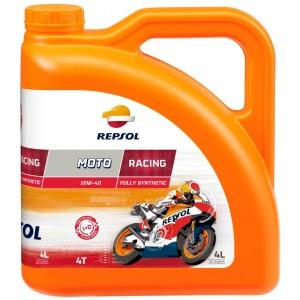 Repsol Motorrad Motoröl MOTO RACING 4T 10W40 4 Liter
