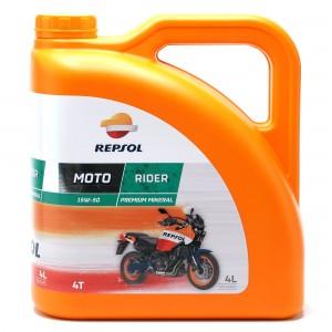 Repsol Motorrad Motoröl MOTO RIDER 4T 15W50 4 Liter