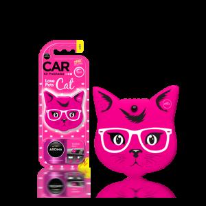 Aroma Car Lufterfrischer Cat Pink Blossom (Pet Lovers)