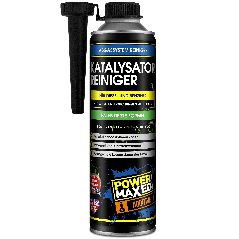PowerMaxed Katalysator-Reiniger 500ml Additiv für Diesel und Benziner - Hilft Abgasuntersuchungen besser zu bestehen - patentierte Formel