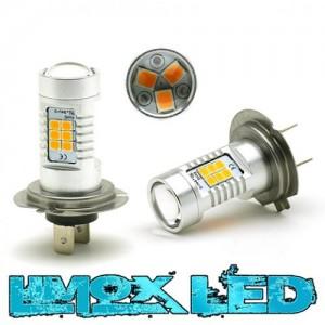 LED Nebelscheinwerfer Birne Lampe H7 4G Orange